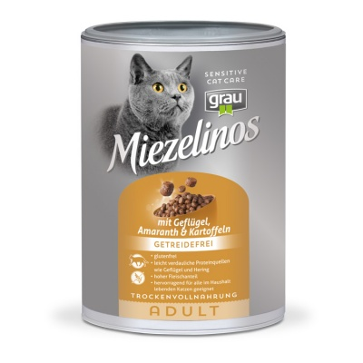 Miezelinos ADULT grain free with Poultry , Amaranth & Potatoes