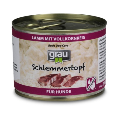 Basic Dog Care - Schlemmertopf Lamb with Whole Grain rice