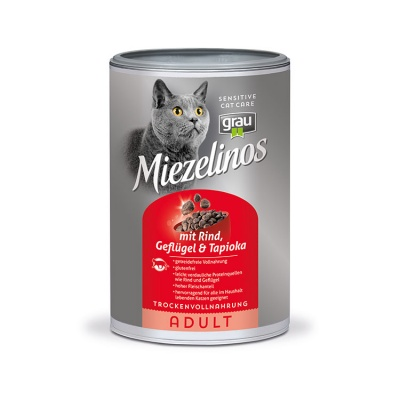Miezelinos ADULT grain free with Beef , Poultry , & Tapioca