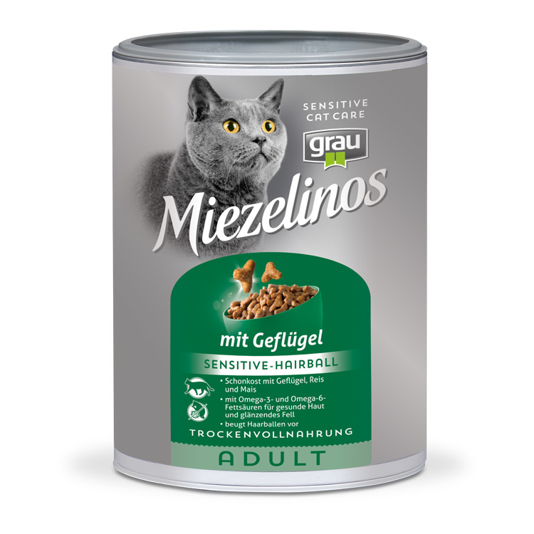Miezelinos ADULT Sensitive Hairball