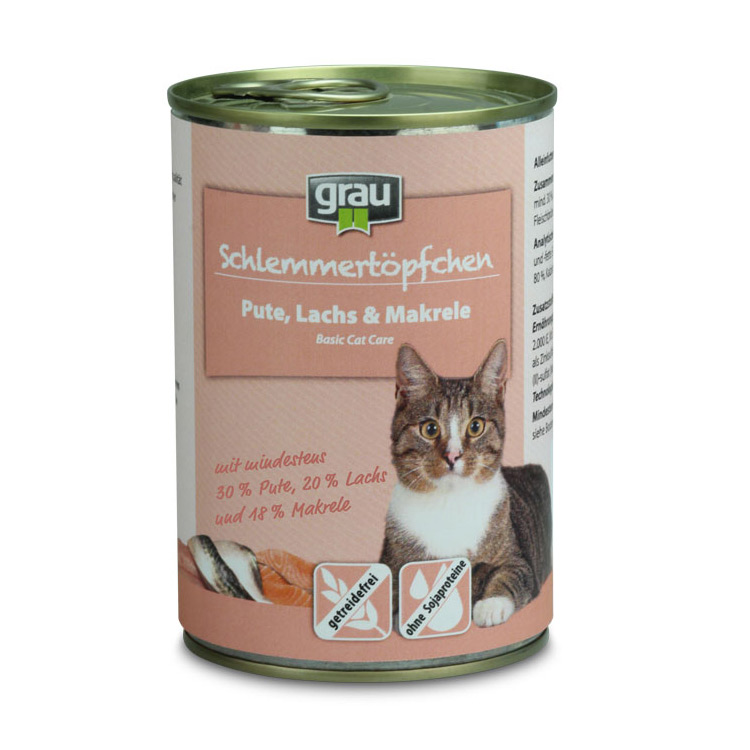 Schlemmertopfchen Grain free Turkey Salmon & Mackerel