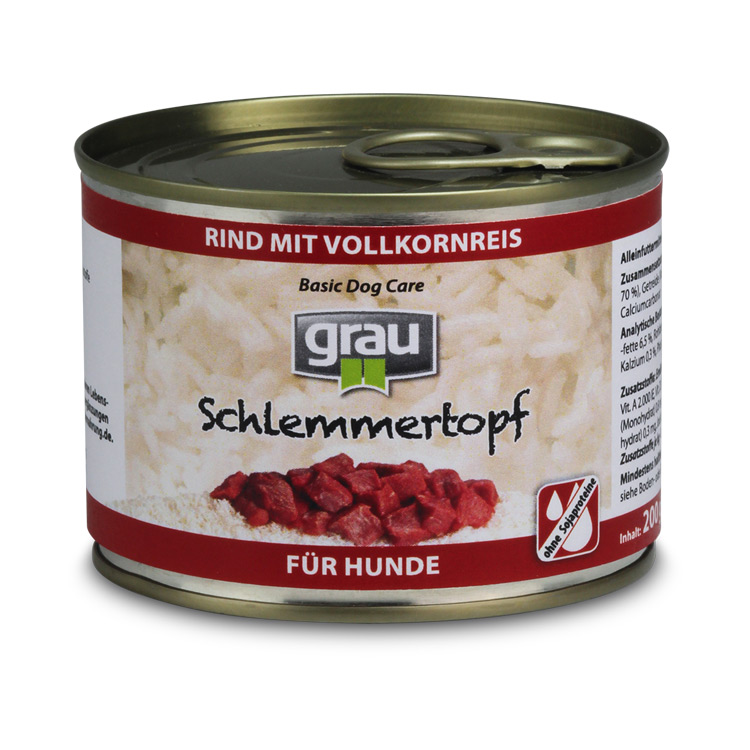 Basic Dog Care - Schlemmertopf Beef with Whole Grain rice