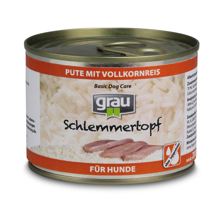 Basic Dog Care - Schlemmertopf Turkey with Whole Grain rice