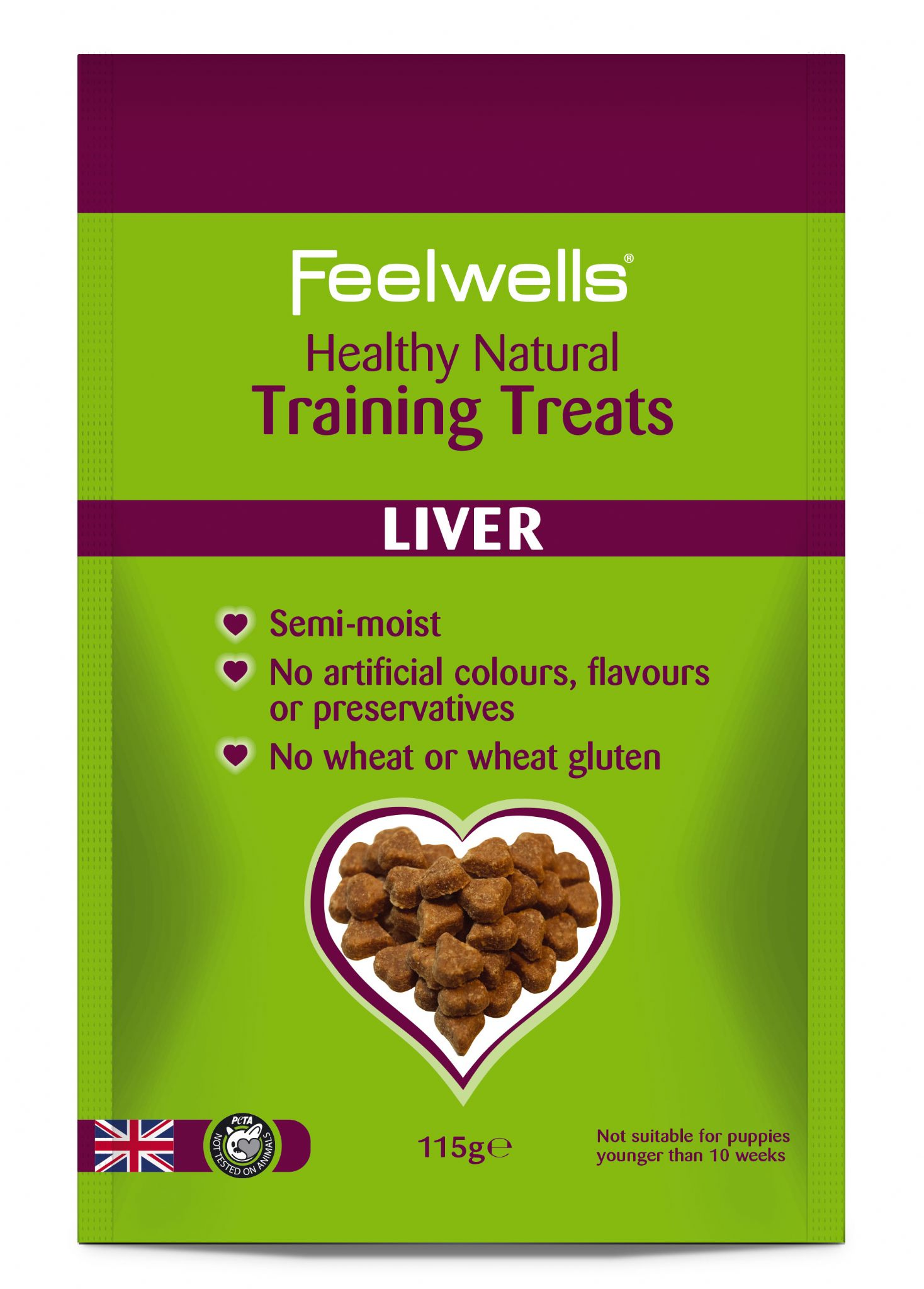 Feelwell's Healthy Natural Liver Training Treats 115g