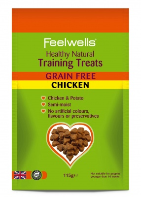 Feelwell's Grain Free Chicken Training Treats 115g